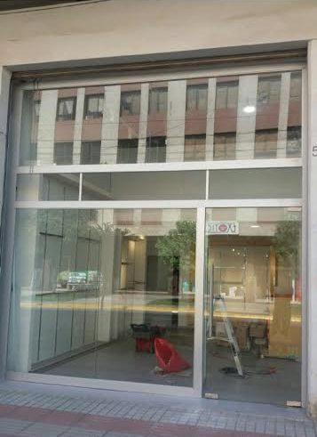 Puertas de vidrio, fabrica de Vidrios Alustyl
